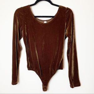 Victoria's Secret Vintage Velvet Bodysuit Size L